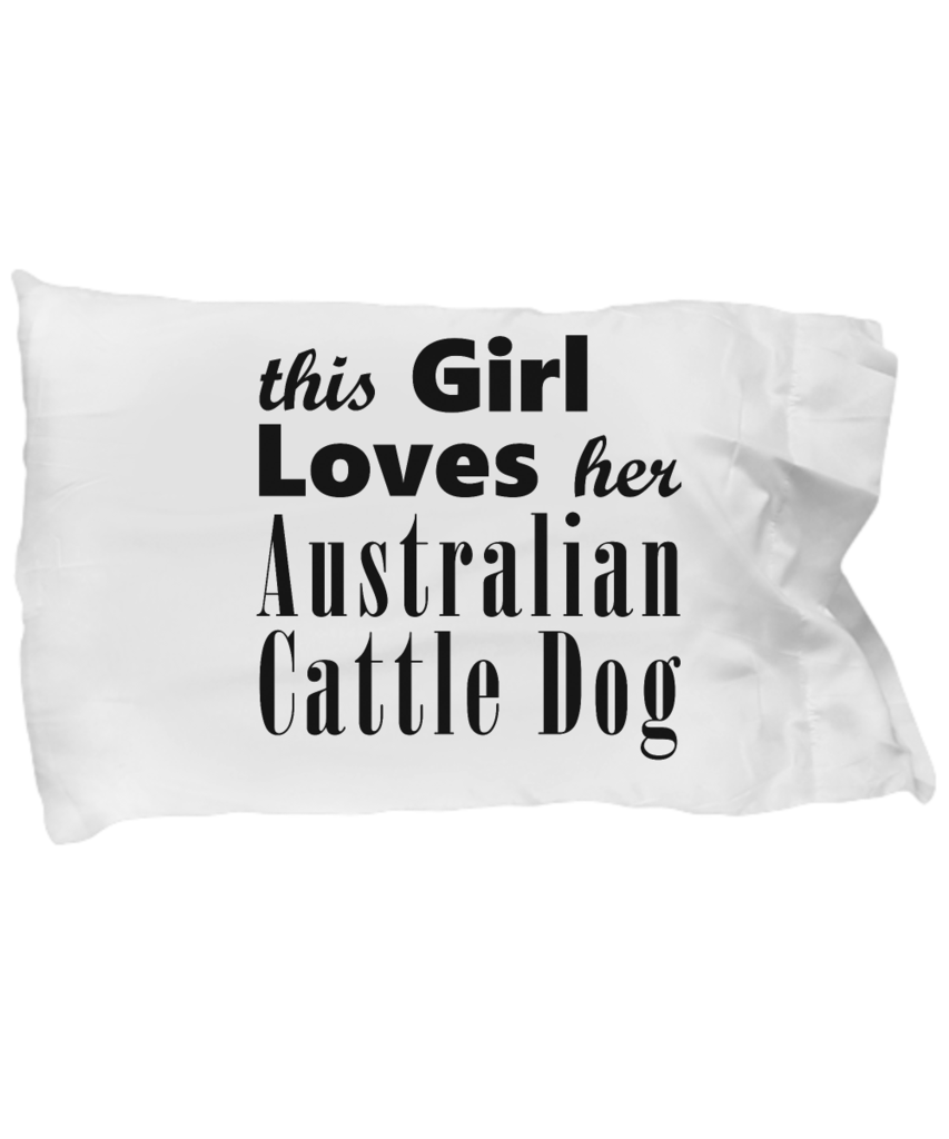Australian Cattle Dog Pillow Case Portuguese water dog