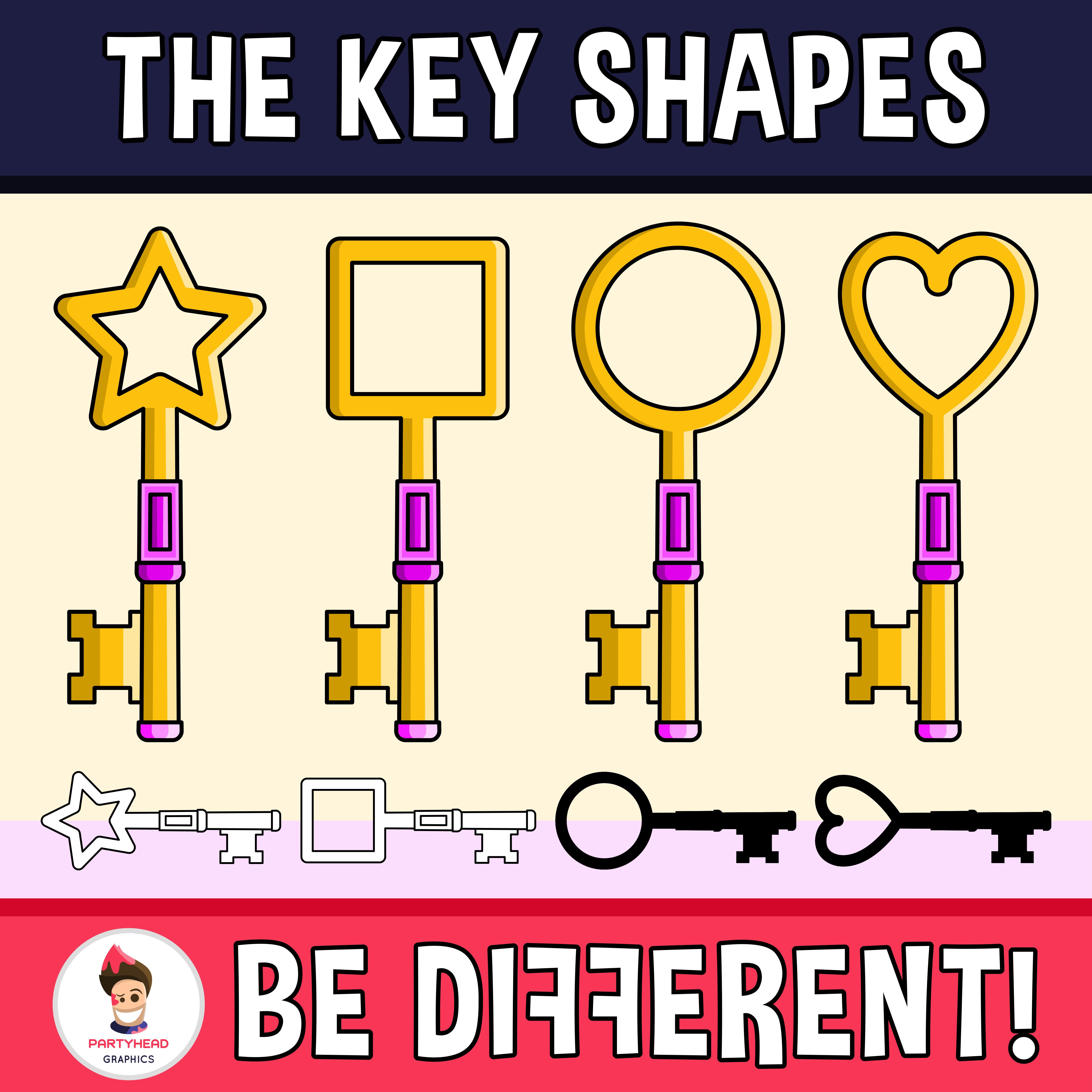 Key Shapes Clipart