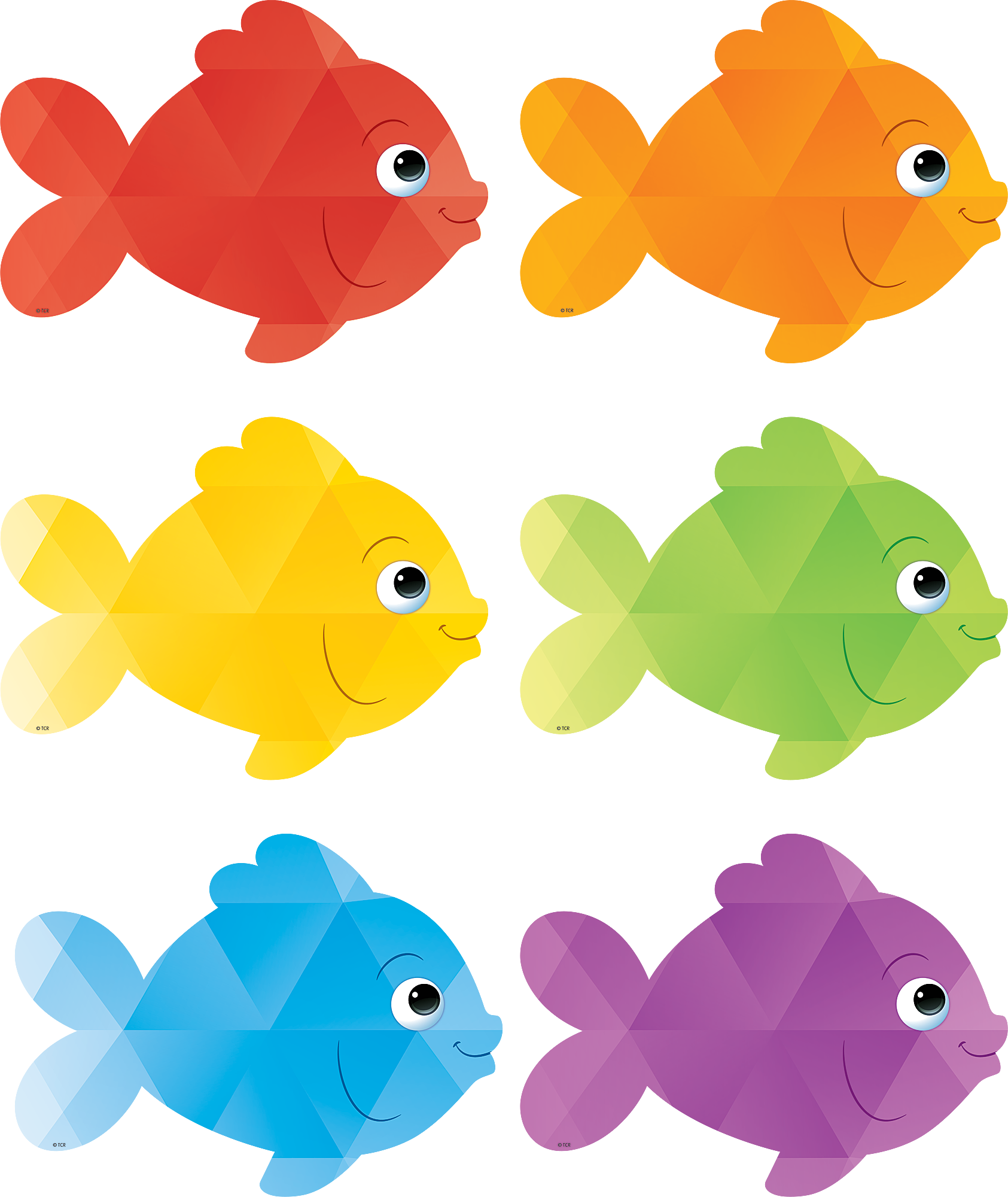 Colorful Fish Accents | Colorful fish, Bulletin board and Classroom ...