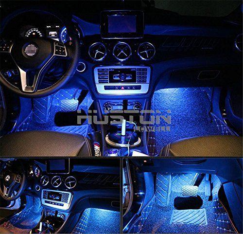 Onepalace 4pcs Car Led Interior Underdash Lighting Kit