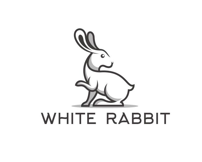 White Rabbit Graphic Design Class Animal Logo Logo Design