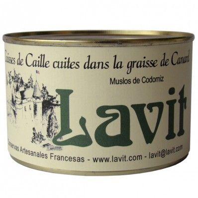 Muslos codorniz rellena de Foie 383 gr. Lavit