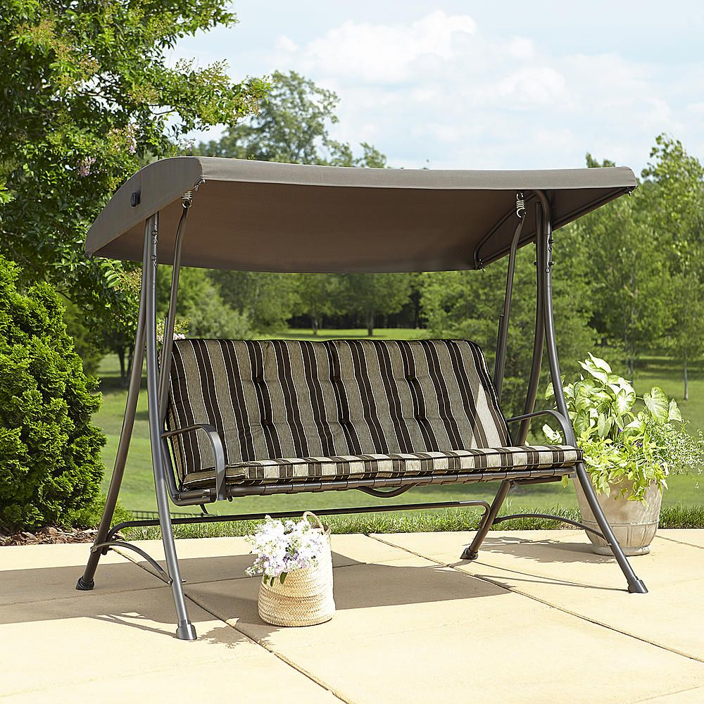 Garden Oasis 3 Seat Swing With Canopy Outdoor Living Patio