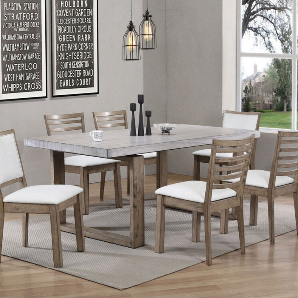 Grey Modern Dining Room With Wonderful Wall Decor Follow Adorable