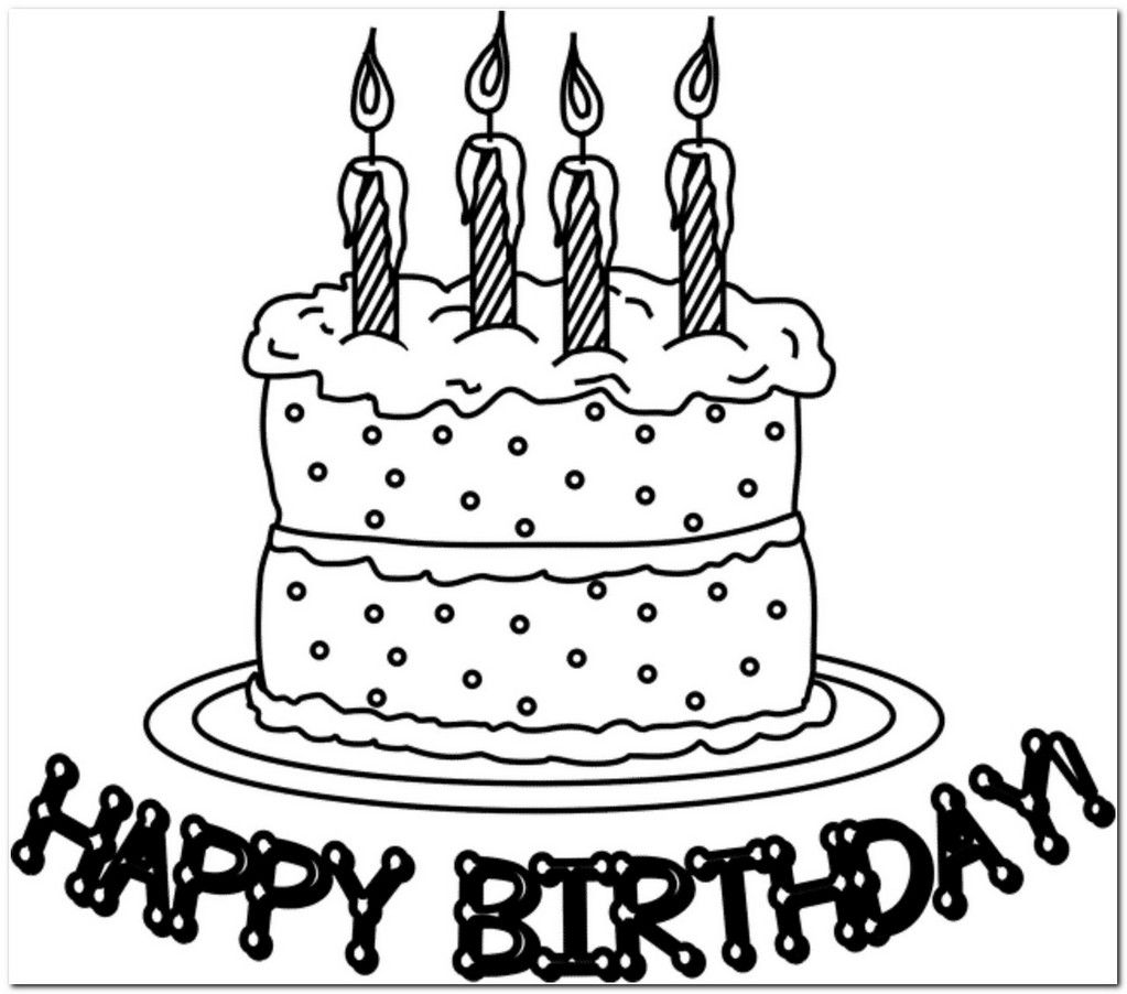 coloring page birthday cake download | Coloring Board | Pinterest