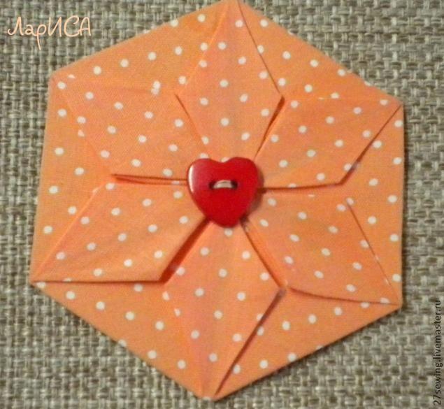 Брошка из шестиугольника - Ярмарка Мастеров - ручная работа, handmade