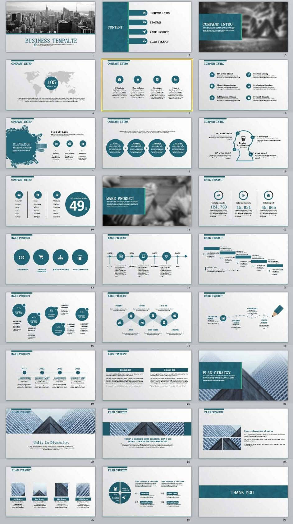 27 business report professional powerpoint templates presentation