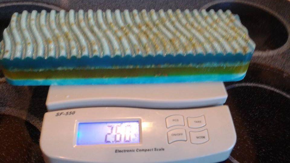 BlueBerry Lemon Bundt Cake Organic Gourmet handmade soap loaf Over 2 lbs LE #SRN