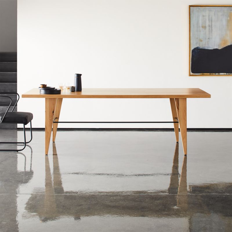 Montenegro Rectangular Oak Dining Table Cb2 Canada In 2020 Oak