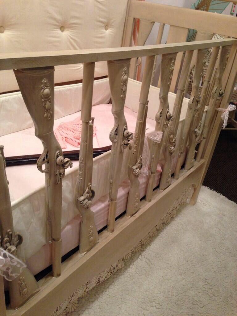 Baby jeep bed - Hand Carved Shotgun Baby Crib Omg