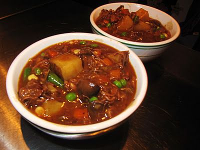 Mama Ozzy's Beef Stew with Mushrooms and Red Wine.