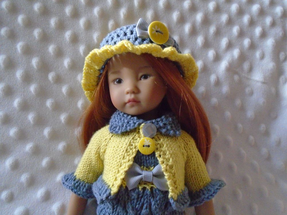 Handknitted OUTFIT for LITTLE DARLING doll - Dianna Effner 13 inches #DiannaEffner