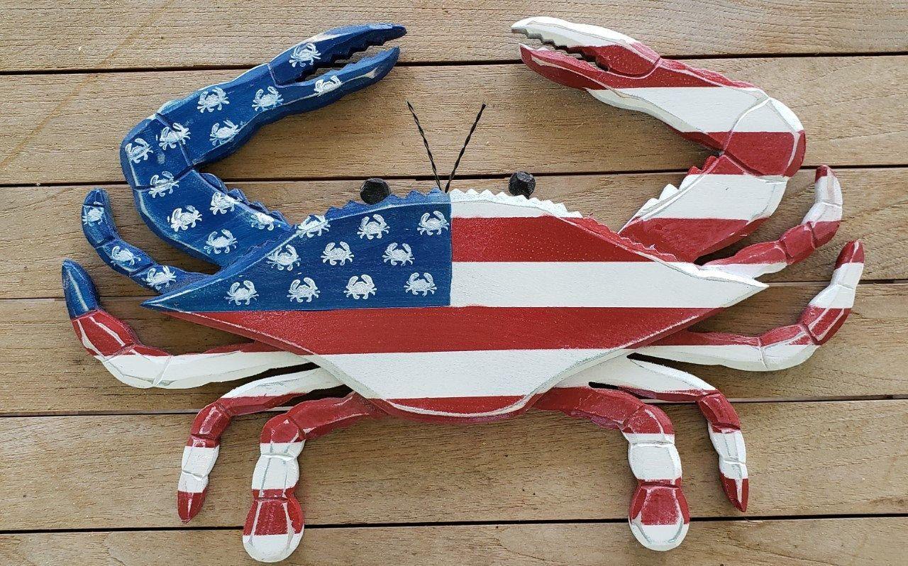 Us Flag Crab American Flag Crab American Flag Party American Flag Patriotic Crafts