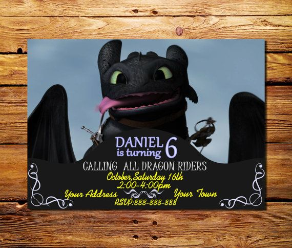 How To Train Your Dragon Birthday Invitation by LesyaDesignStudio