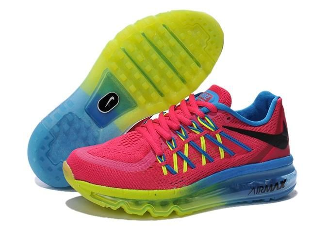 Latest Nike Air Max 2015 Women White Black Pink Running