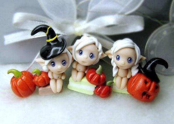 Spooky fairies /polymer clay beads