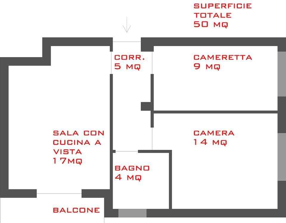 Trilocale 50mq Planimetrie Di Case Arredamento Di Appartamenti Moderni Arredamento Casa Estiva