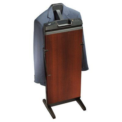 Suit Stands Freestanding Clothes Valet Stands And Suit Racks Corby Walnut Finish Clothes Steamer