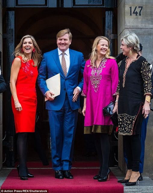 The Dutch Royal Family attend the Prince Claus award 2016 in Amsterdam