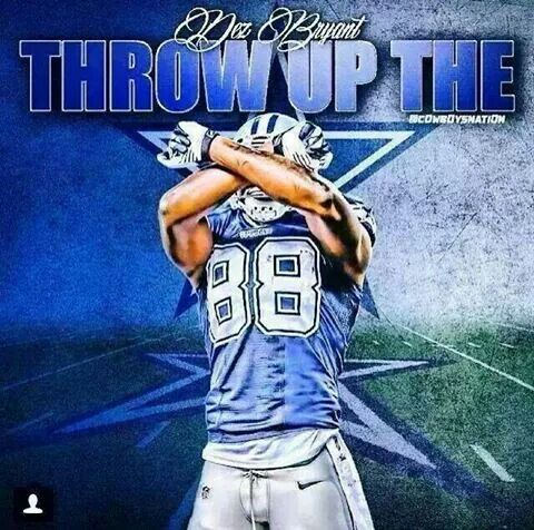 Throw up the X - #88 Dez Bryant WR - Dallas Cowboys #dezbryant