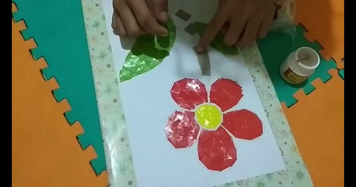 Gambar Kolase Kertas Warna Cara Membuat Kolase Dari Potongan Kertas Lipat Berwarna Download Ide Membuat Kolase Anak Paud Facebook D Di 2020 Gambar Bunga Kolase