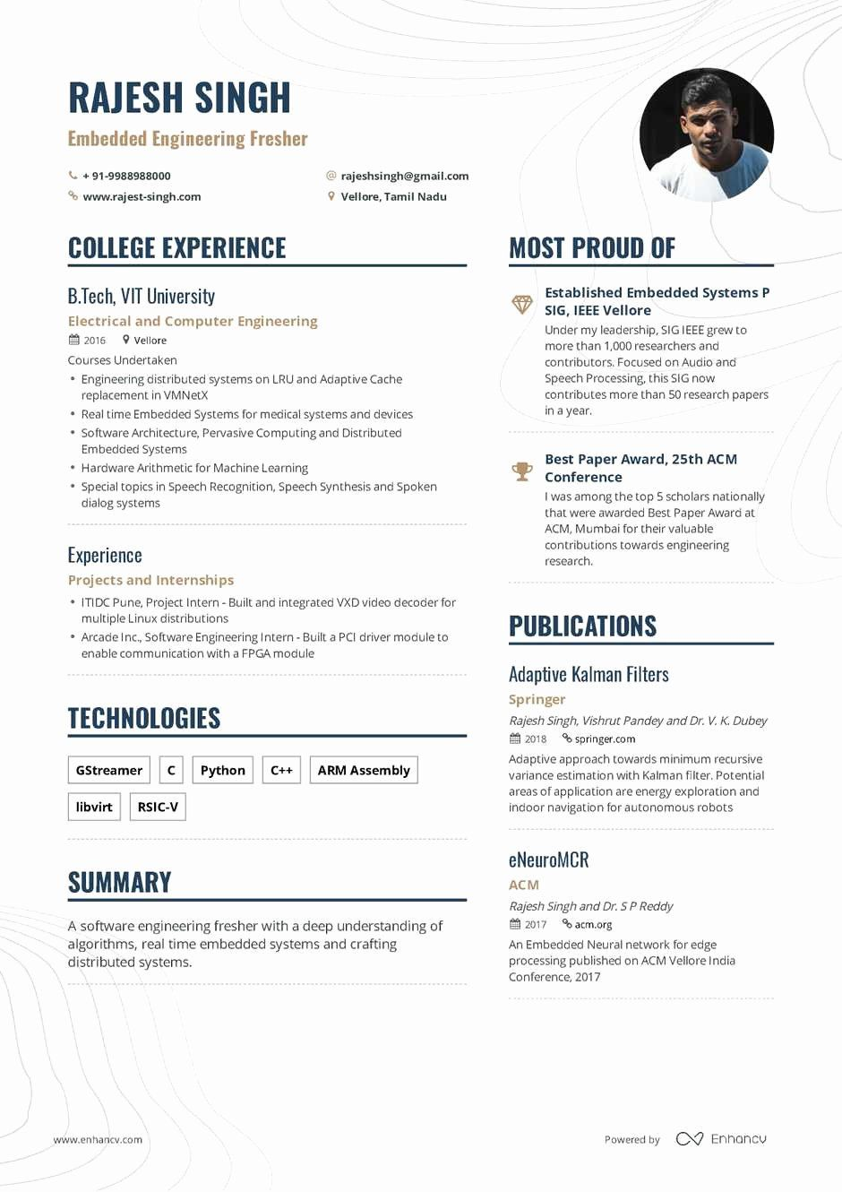 25 Sample Resume for Freshers in 2020 Resume format for