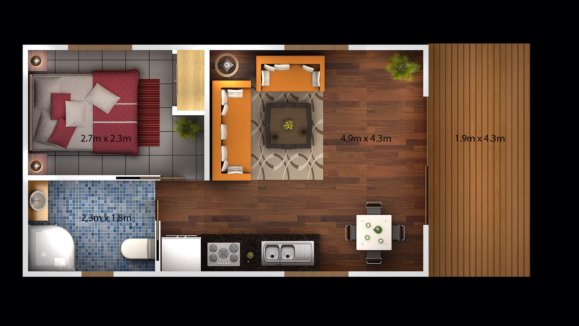 Pin By Eloria Estrada On Garage Conv Garage Conversion Granny Flat Garage Conversion Apartment Floor Plans