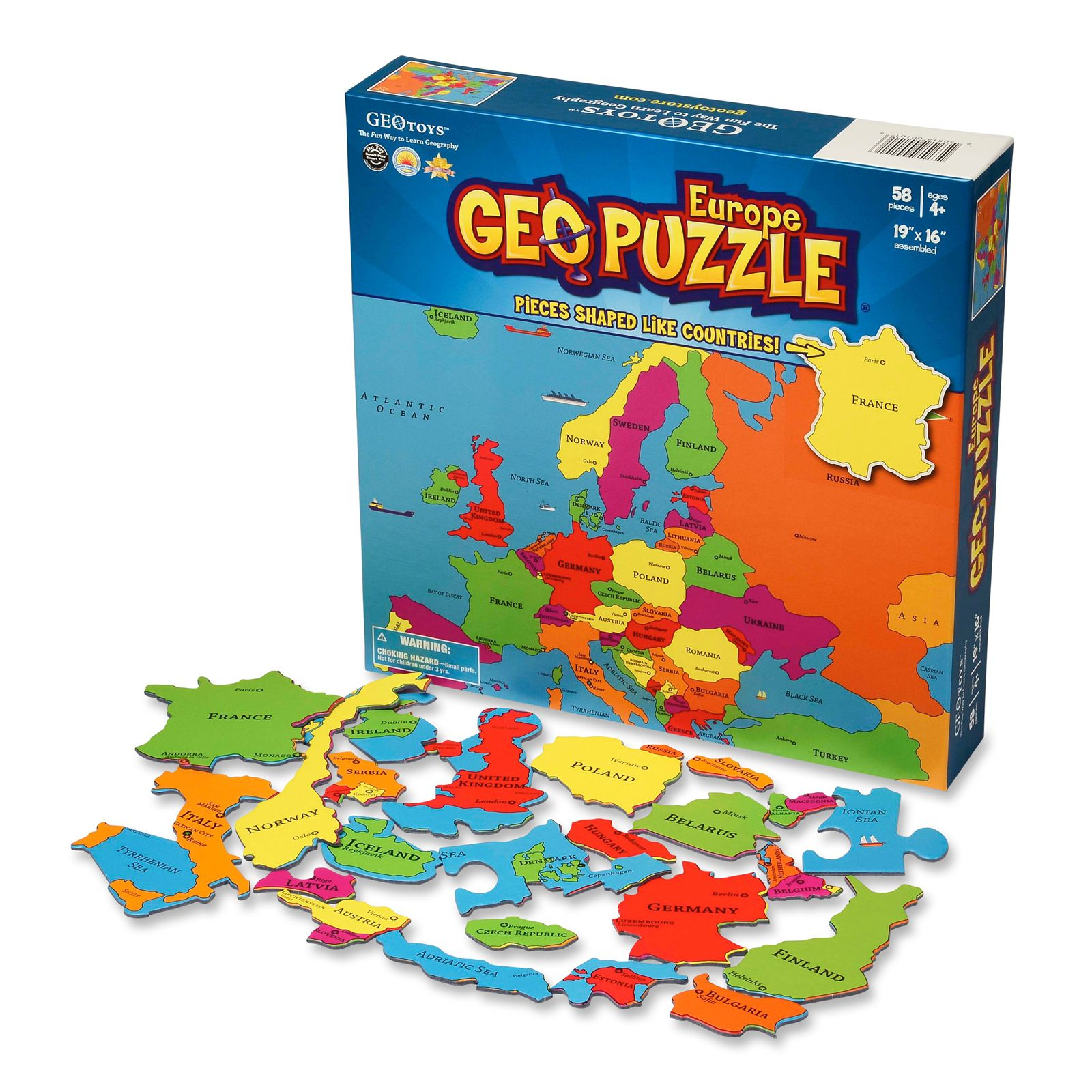 GEO TOYS GeoPuzzle Europe Jigsaw puzzles, World puzzle