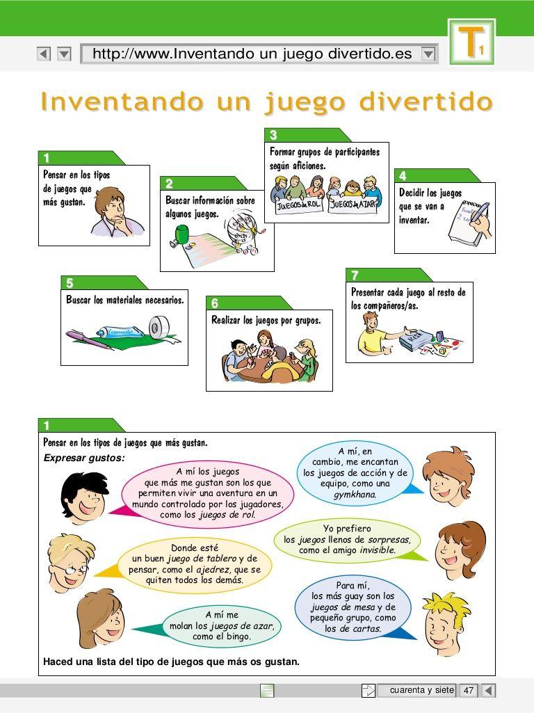 Instrucciones Para Inventar Un Juego Divertido Espanol