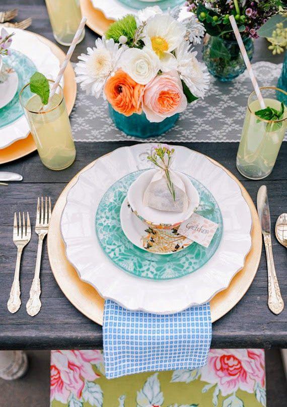 pretty table setting | DIY Home Decor | Pinterest | Tablescapes ...