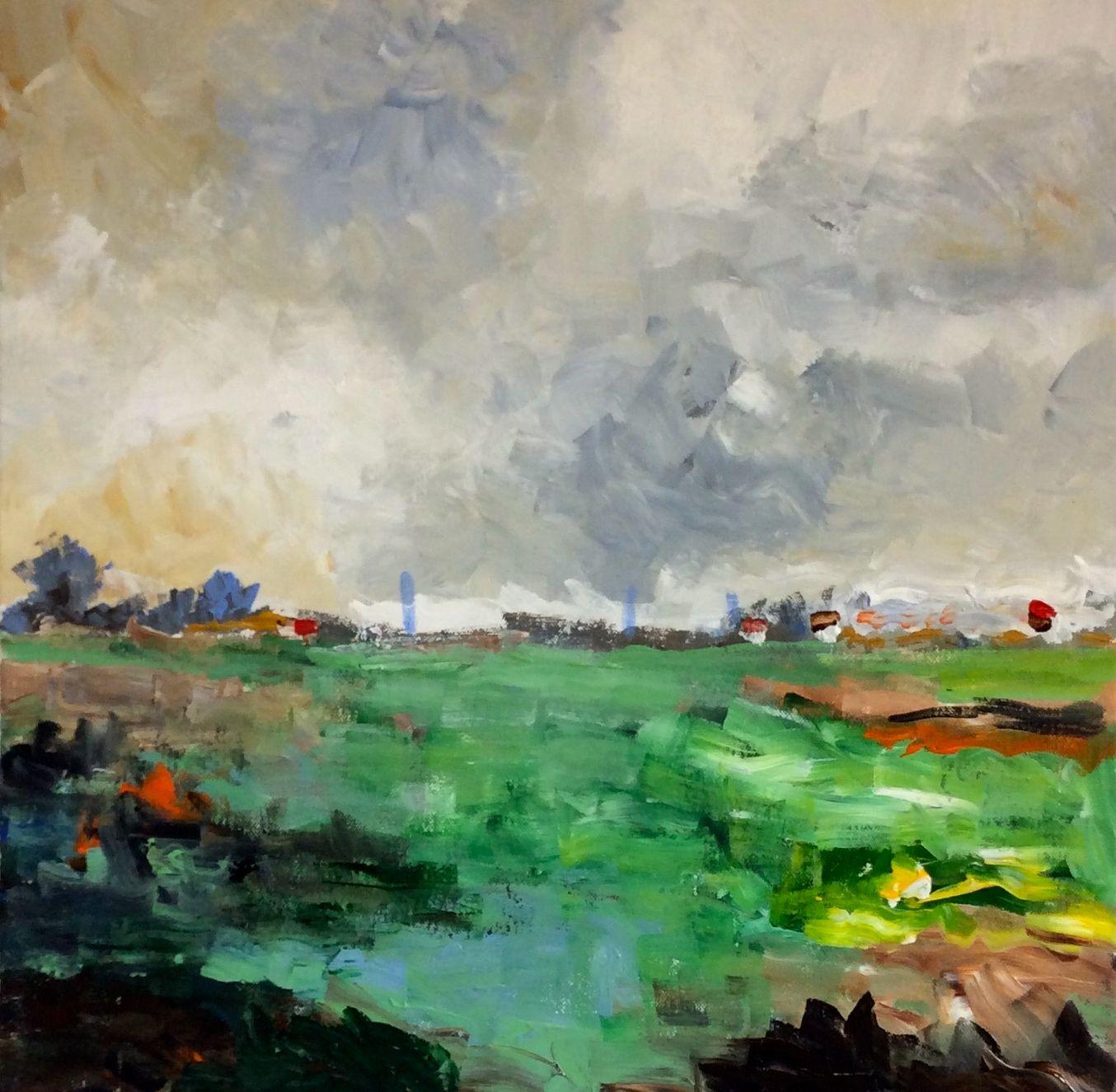 Landscape 1 norfolk series 50 x 50 cms sense of place