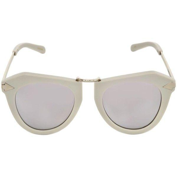 0420bd2991 Karen Walker Women One Orbit Geometric Mirror Sunglasses ( 325) ❤ liked on  Polyvore featuring