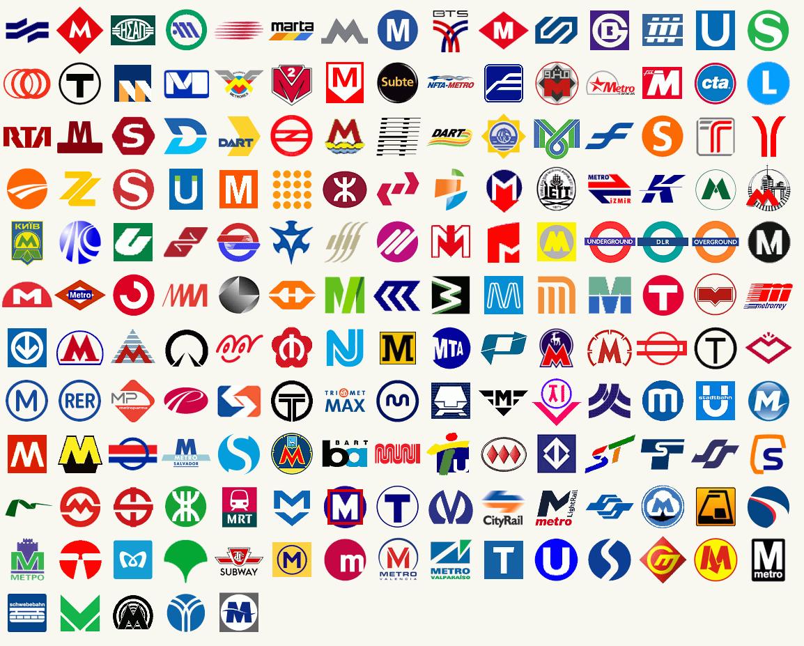 Metro Logos Of The World Sign Design Logo Design Inspiration Logo Design