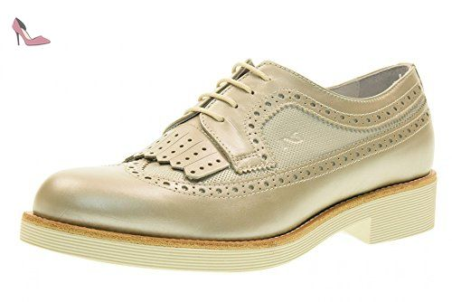 NERO GIARDINI inglesina femme avec P717072D / 505 franges taille 39 Sable -  Chaussures nero giardini