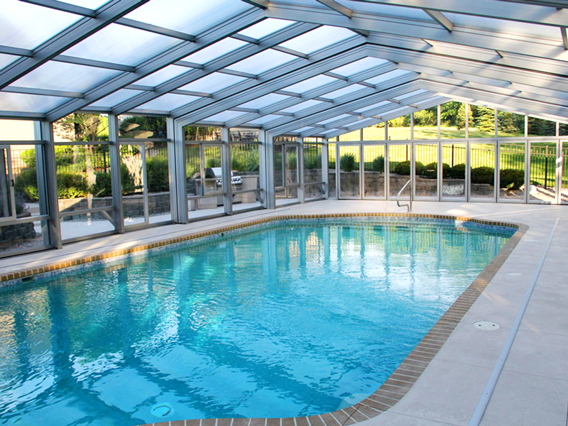 This Customer Gets To Swim All Year Round Dynadome Pool Enclosure