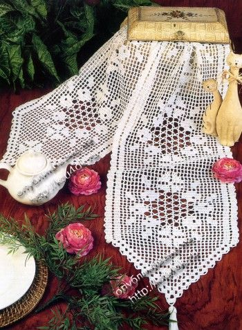 Table runner with diagrams filet work click to enlarge crochet table runner with diagrams filet work click to enlarge ccuart Choice Image