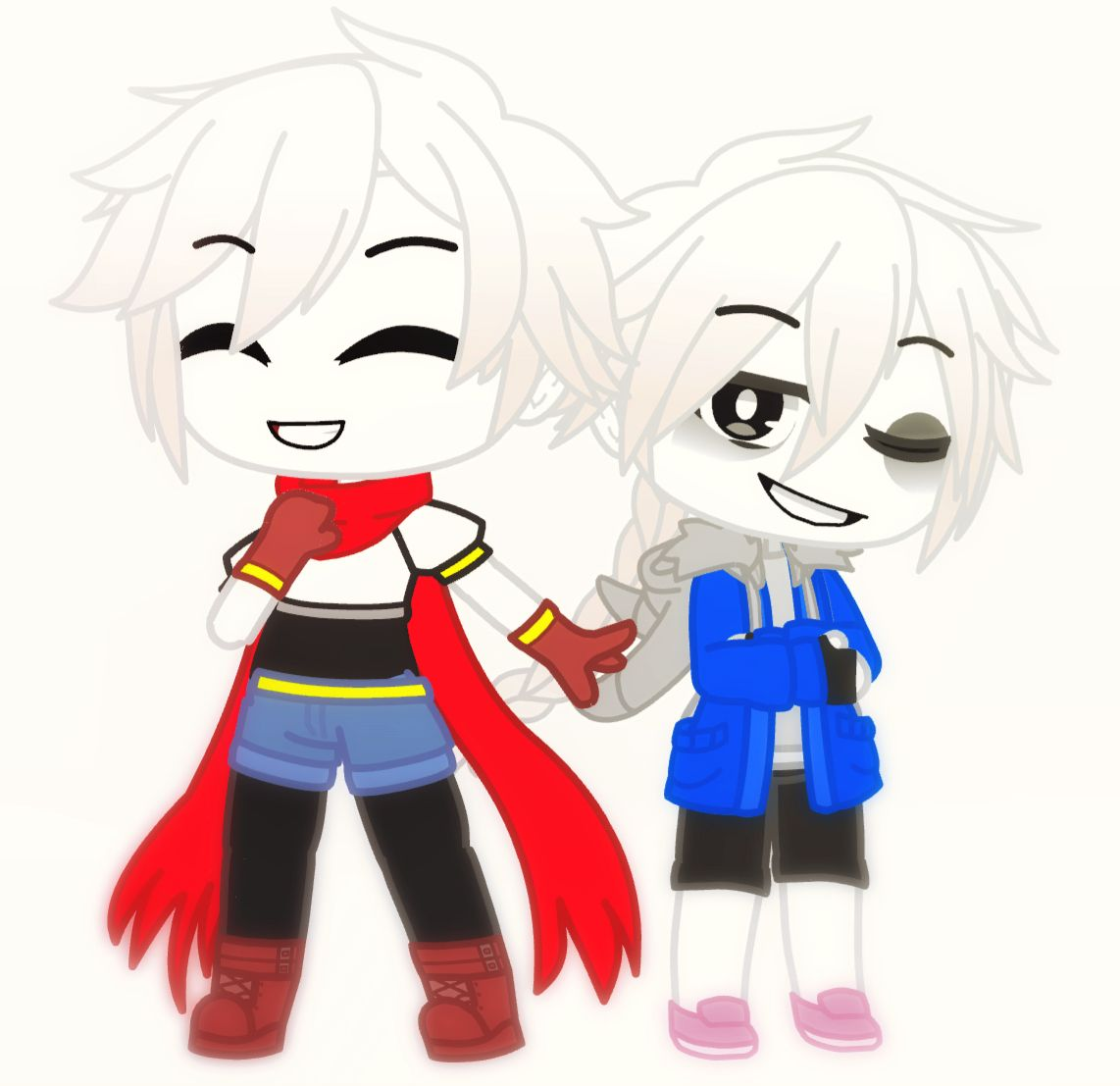 Yay I Made Sans And Papyrus In Gacha Club Qwq I M So Proud Of The Uwu Undertale Cute Chibi Undertale Gaster