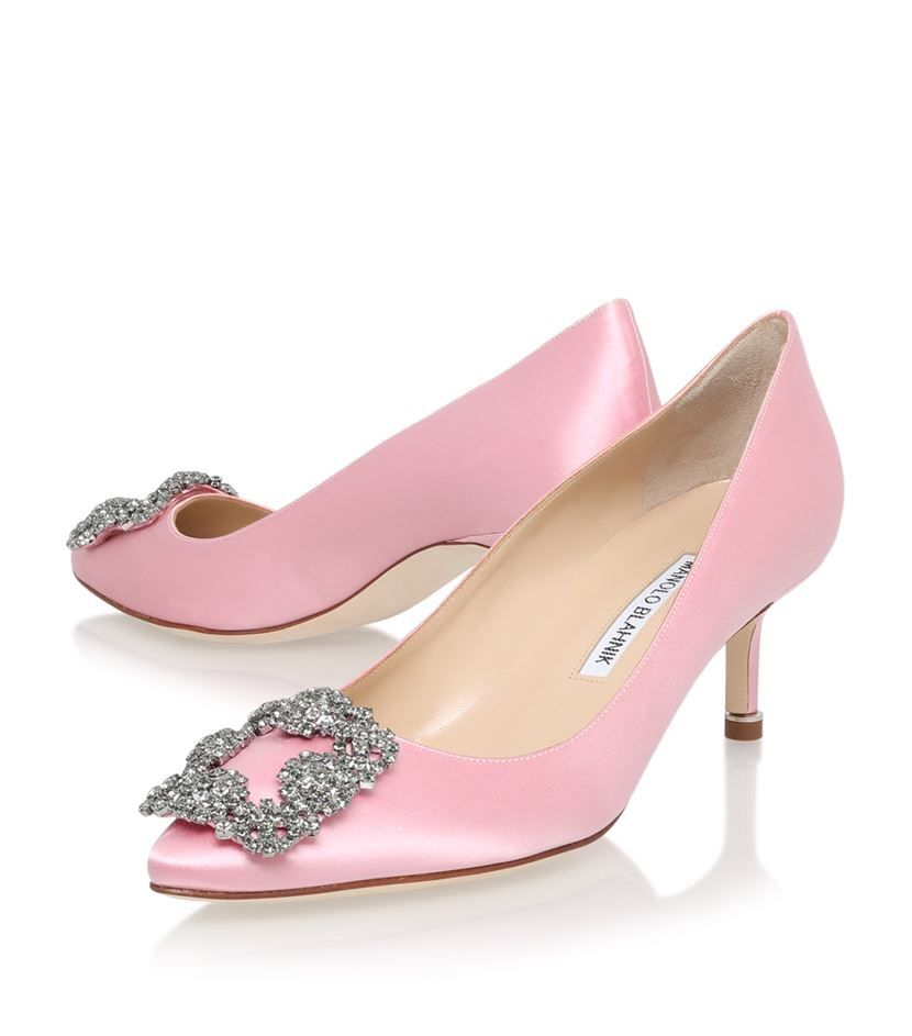 Manolo Blahnik Hangisi 50 Satin Pumps | Harrods