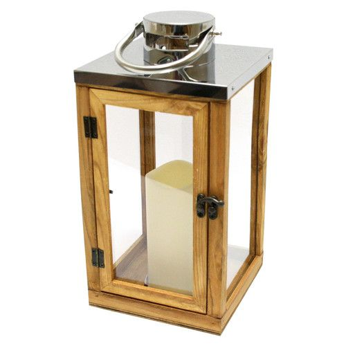 Found it at Wayfair - Wood and Glass Lantern