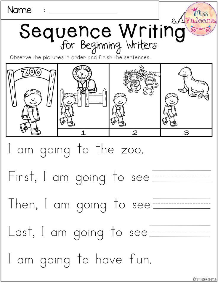 Free Sequence Writing for Beginning Writers | Best of TPT ...