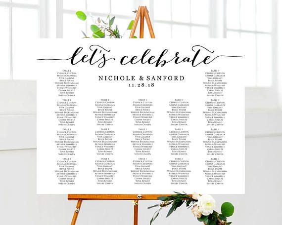 Let   celebrate wedding seating chart template instantly download edit and print your own charts for weddings receptions special events also table plan rh pinterest