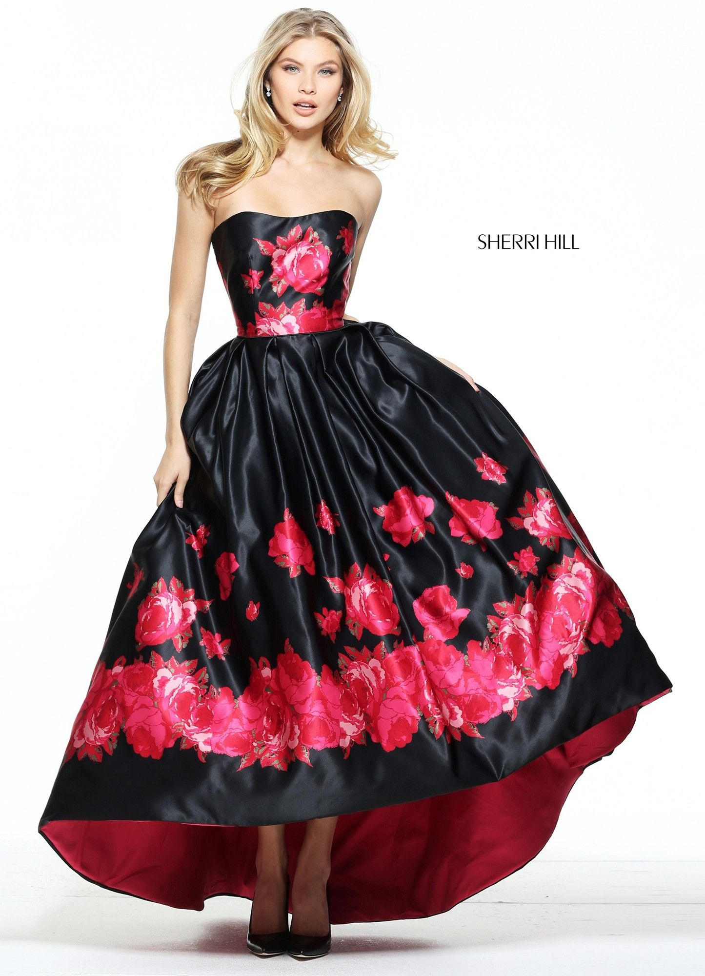 Boutique Red Synchronicity Red Lace Prom Dress