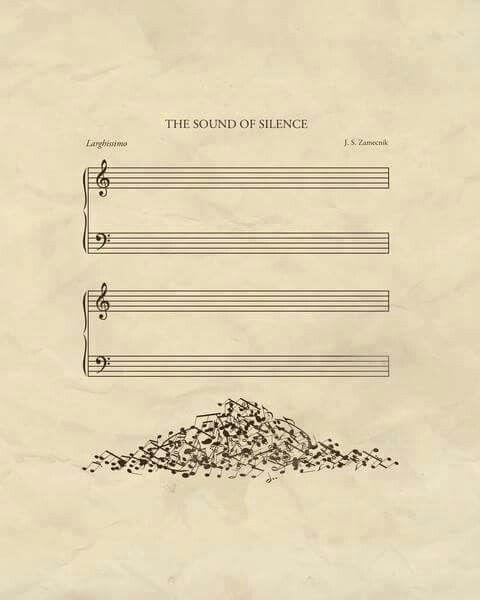 El sonido del silencio....