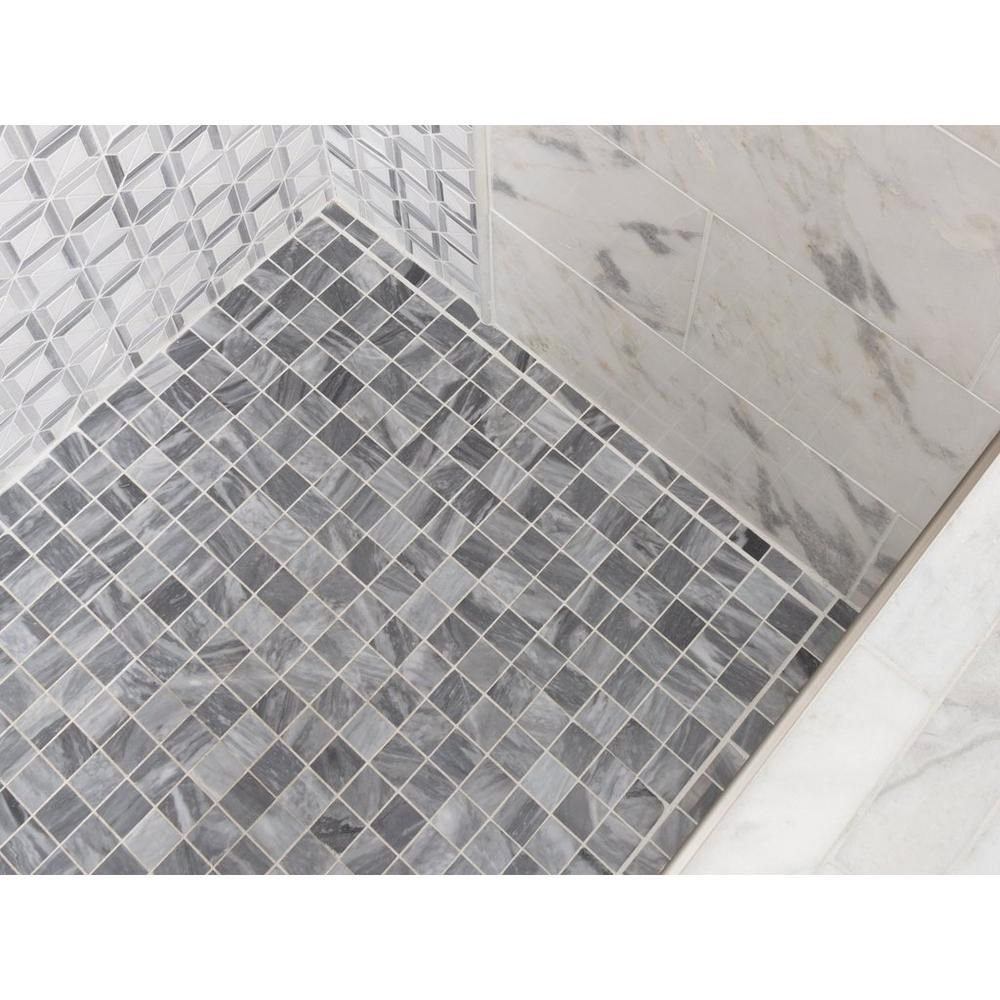 bardiglio marble mosaic floor decor