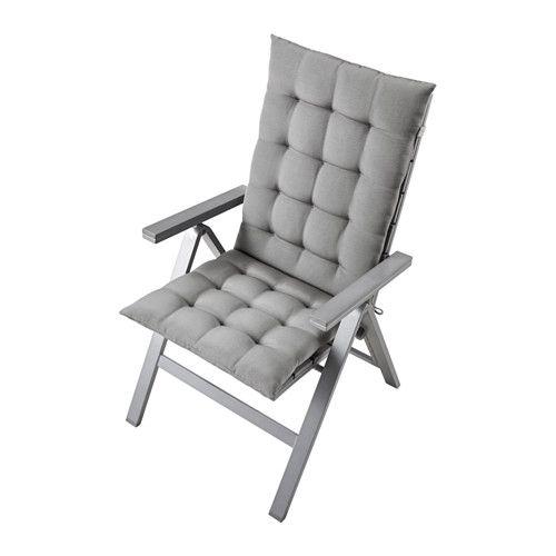 Falster sedia reclinabile da giardino pieghevole grigio ikea garden and outdoor for Accessori giardino ikea