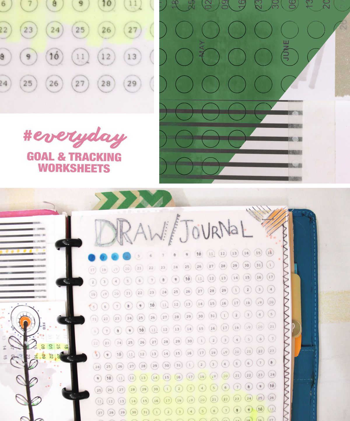 Goals And Daily Habit Tracking 5 5 By 8 5