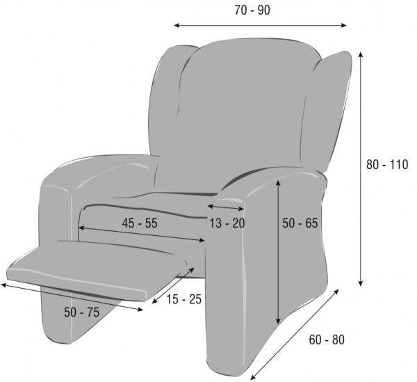 Como realizar fundas para un sillon medidas costura for Medidas de sillones