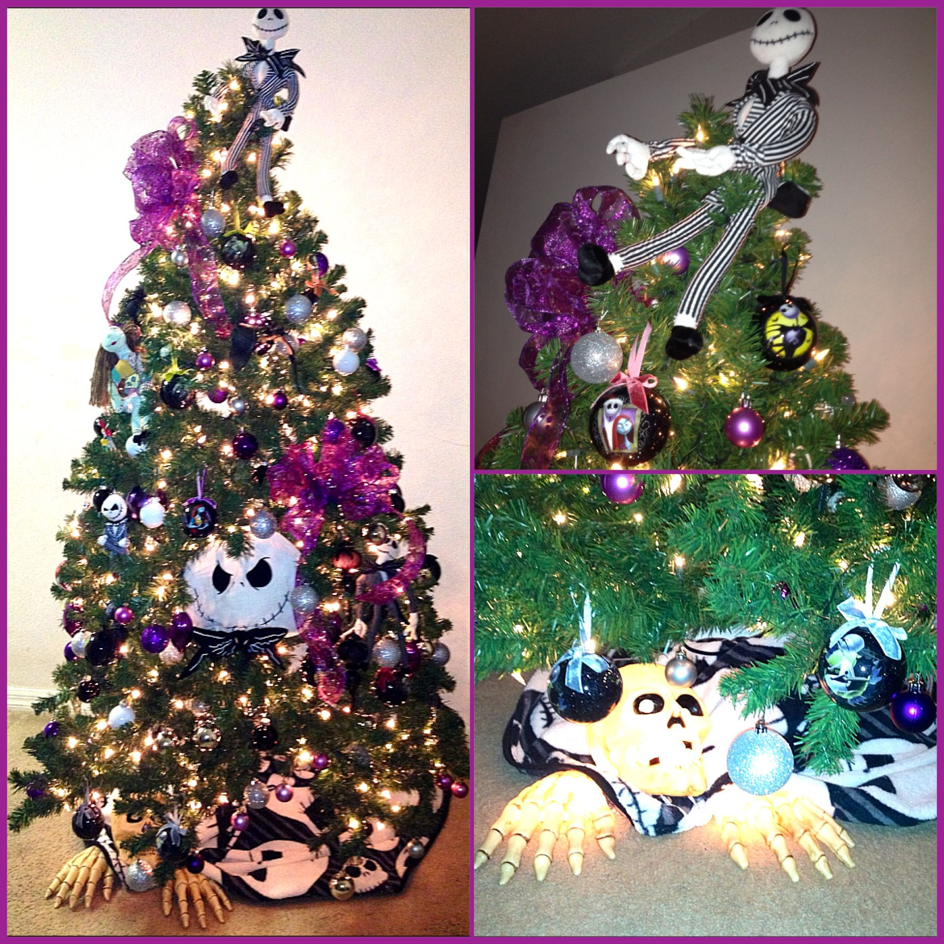 Our 2012 Nightmare Before Christmas theme tree ... We added all the ...