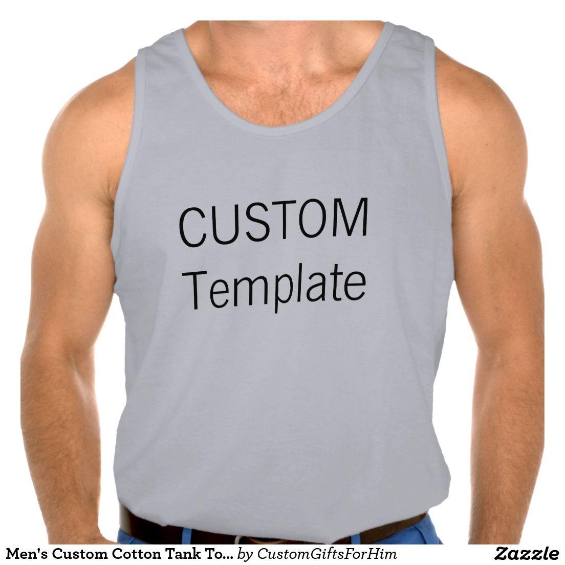 Men's Custom Cotton Tank Top SPORT GREY