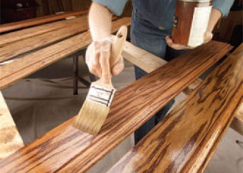 When refinishing furniture, spray a light coat of Static Guard spray on a soft paintbrush to clean up fine dust between coats of varnish for a satiny smooth finish. -- www.mystaticguard.com #staticguard #hometips #refinishedfurniture